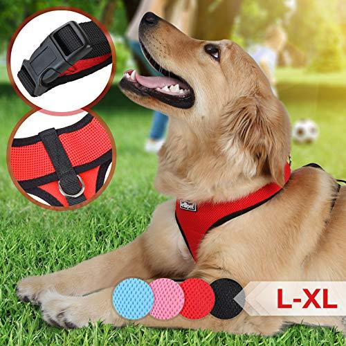 Hundegeschirr für Hunde - mit Klickverschluss, Soft Air Mesh Weste,...