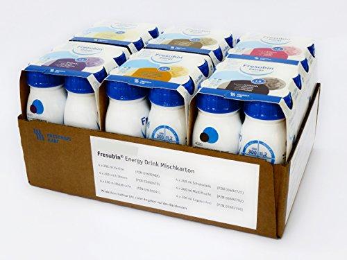 FRESUBIN Energy Drink, 300kcal pro Trinkflasche, 6 x 4 x 200ml (Mischkarton)...