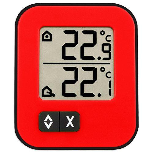 TFA Dostmann Moxx Digitales Innen-Außen-Thermometer, Anzeige der Innen- und...