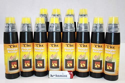 ** Set** Till Kaminglas Reiniger 12 Flaschen a. 200ml Gel mit Bürste