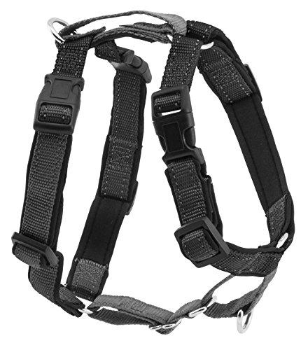 PetSafe 3 in 1 Hundegeschirr M schwarz, Autosicherheitsgeschirr, kein Ziehen,...