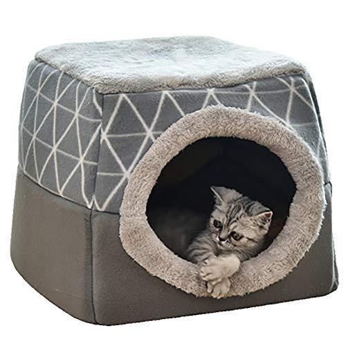 YunNasi Katzenhöhle Katzen Haus Katzenbett Haustier Pet Nest Schlafsack 2 in 1...