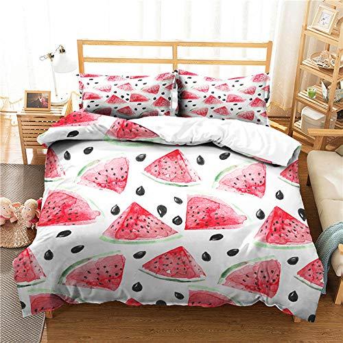 zpangg Bettwäsche Set Frucht Zitrone Erdbeer Wassermelone Bettbezug und...