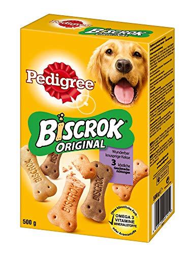 PEDIGREE Hundesnacks Hundeleckerli Biscrok in 3 Geschmacksrichtungen, 6...