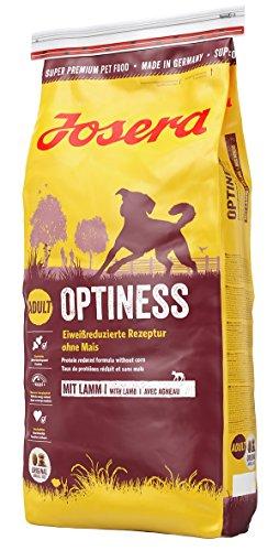 JOSERA Optiness, Hundefutter mit eiweißreduzierter Rezeptur ohne Mais, Super...