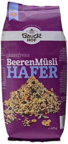 Bauckhof Hafermüsli Beeren glutenfrei (1 x 425 g) - Bio