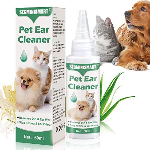 SEGMINISMART Ohrenreiniger für Hunde,Beruhigung und natürliche Pflege...