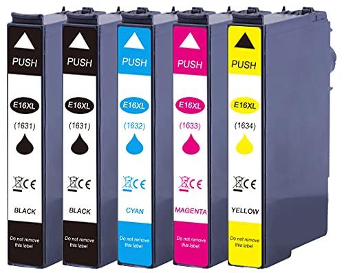 5 XL Druckerpatronen ersetzen Epson T1631 T1632 T1633 T1634 Nr.16 Nr.16XL...