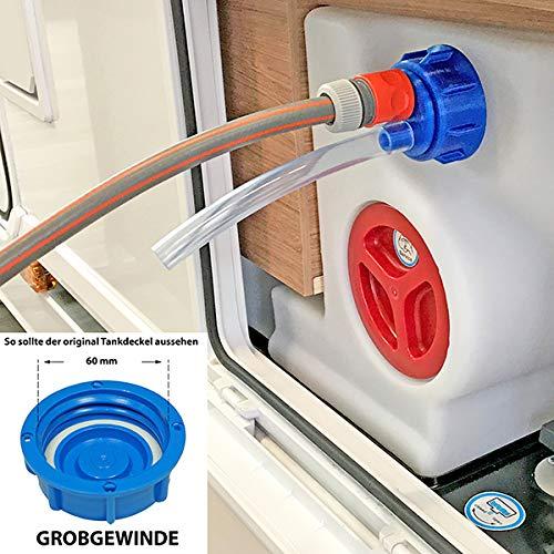 WAFA 5G Wasserfülladapter für Wohnmobile, GROBGEWINDE, Knaus, Weinsberg,...