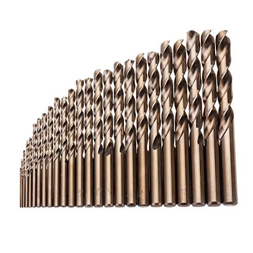 Bohrer 25pcs 1-13mm HSS M35 Cobalt Spiralbohrer Set for Metall, Holz, Bohren...