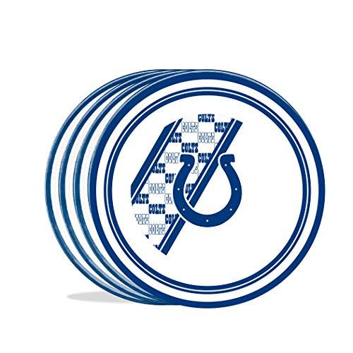 Duck House Entenhaus NFL Indianapolis Colts Teller aus Melamin, 25 cm, 4 Stück