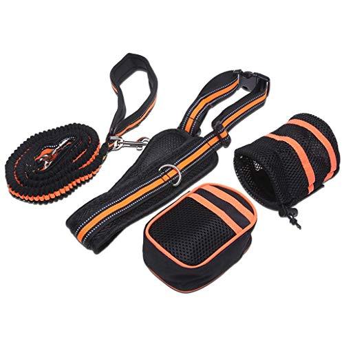 AMAZACER 2 Piecs elastischer Gürtel Running Dog Leine-Blei-Sport Jogging Gehen...