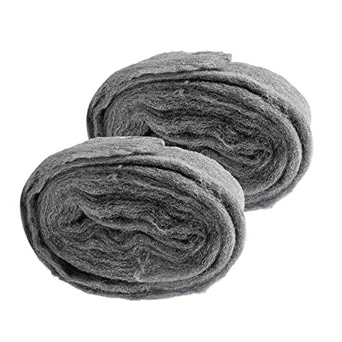 otutun Stahlwolle, 2 Stück Stahldraht Wolle Stahlwolle Fein 0000 Grade Metall...