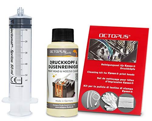 Octopus Düsenreiniger, Druckkopfreiniger kompatibel für Epson Druckköpfe mit...