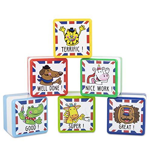 Trendhaus 601506 Lehrer Stempel Set Englisch  6 selbstfärbende...