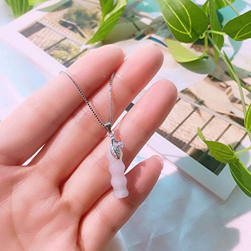 KVSW 925 Sterling Silber Bambus Halskette Halskette hochfliegende Reichtum...