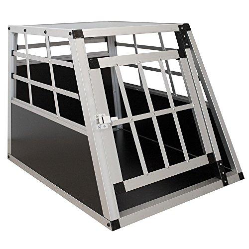 Sam´s Pet Aluminium Hundetransportbox Größe M schwarz/Silber | Alu Auto...