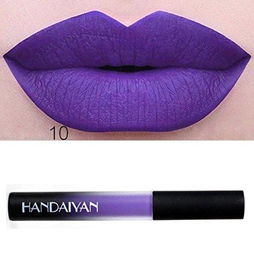 ESAILQ 10ml Wasserdicht langlebig flüssigen samt Matte Lippenstift Make up...