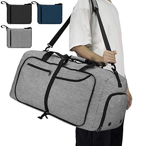 NEWHEY Reisetasche Groß 65L Faltbare Reisetaschen Leichte Sporttasche für...