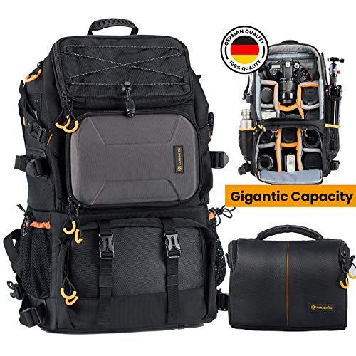 TARION Kamerarucksack Fotorucksack Groß 2-in-1 mit Extra Kameratasche für...