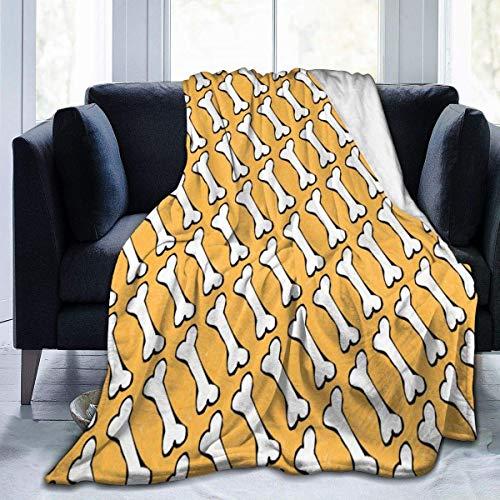 Searster$ Fleece Blanket Hundeknochen in den gelben Ultra weichen...