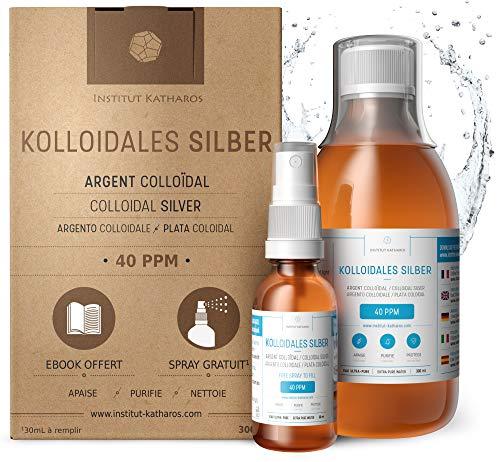 Kolloidales Silber 100% natürlich 40 PPM (300 ml) Mit unentbehrlichem...