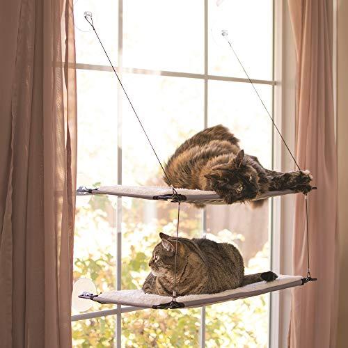 Pet Central KH Manufacturing Creative Solutions Katzen-Fensterliege, doppelt