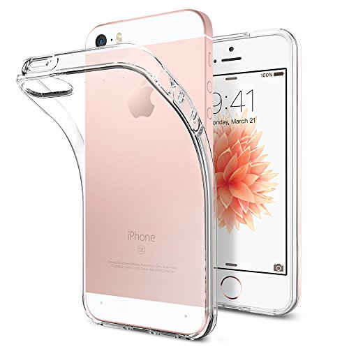 Spigen Liquid Air Kompatibel mit iPhone SE 2016/5S/5 Hülle, Transparent...