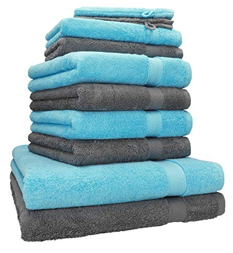 Betz 10-TLG. Handtuch-Set Premium 100% Baumwolle 2 Duschtücher 4 Handtücher 2...