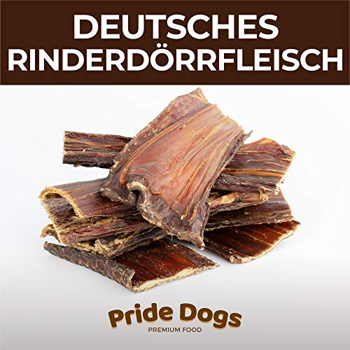 PrideDogs Rinderdörrfleisch kurz 500g der Premium Kausnack für Ihren Hund |...
