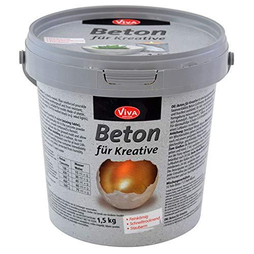 Viva Decor® Gieß-Beton für Kreative (1,5kg) Beton Deko - kreativ Basteln mit...