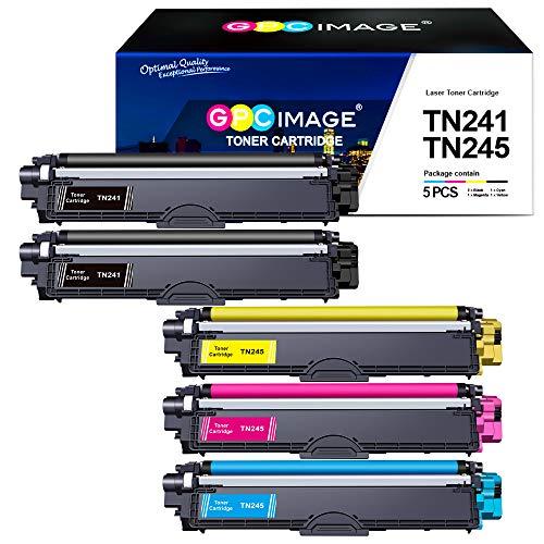 GPC Image 5 Pack Kompatibel Toner Patronen Ersatz für Brother TN-241 TN-245...