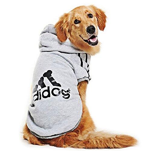 DULEE adidog Hund Warme Hoodies Mantel Jumpsuit Haustier Kleidung Jacke Pullover...