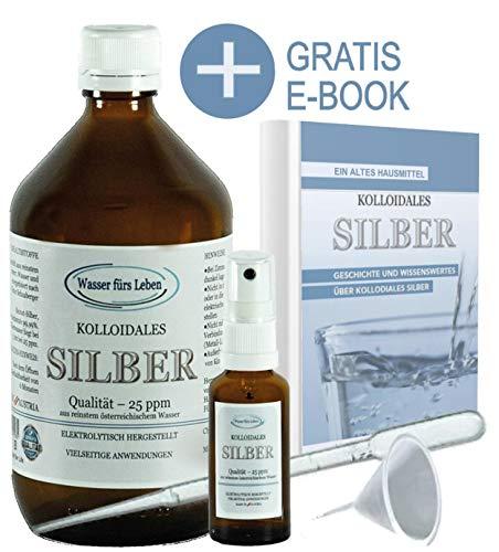 Liquid for Life Kolloidales Silber 25ppm - 1000ml Silberwasser Natürliches...