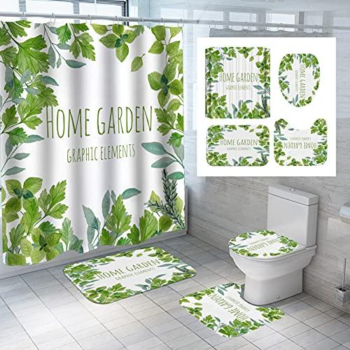 Wasserdichter Duschvorhang Der Nordic Simple Green Plant Series Digitaldruck...