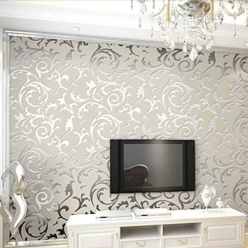 Detectoy Tapete, 3D, wasserdicht , 53 cm x 10,00 m , Luxus-Damastvlies im...
