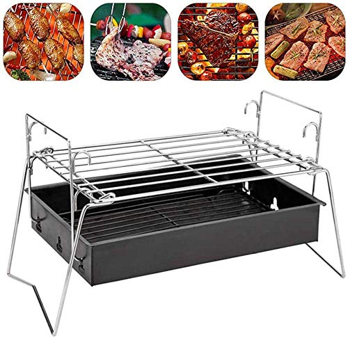 KAYBELE Tragbare Holzkohlegrill Mini Barbecue Grill Folding Lagerfeuer Grill...