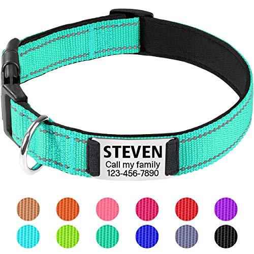 TagME Personalisiertes Reflektieren Neopren Gepolstert Hundehalsbänder mit...