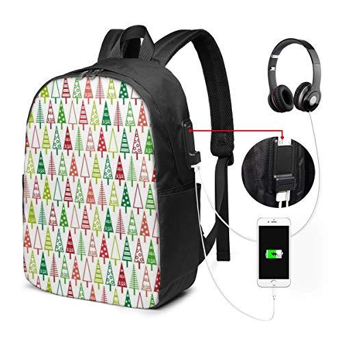 Reise-Laptoprucksack, Business-Laptoprucksack mit USB-Ladeanschluss, für Schule...