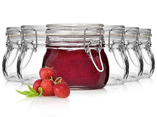 Bormioli Fido Gläser mit Bügelverschluss 6 teilig | Füllmenge 500 ml |...