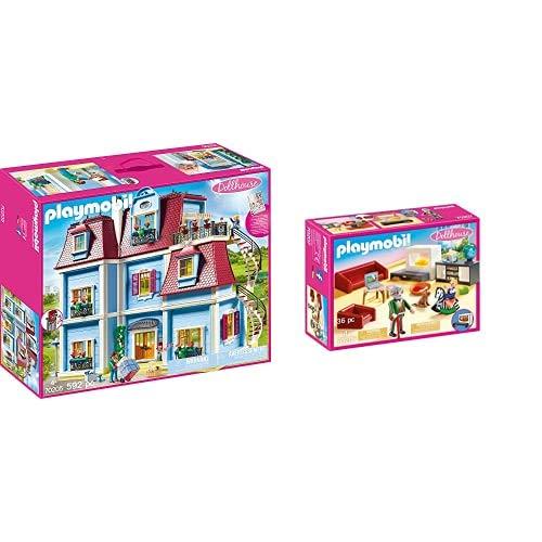 PLAYMOBIL Dollhouse 70205 Mein Großes Puppenhaus, Mit funktionsfähiger...