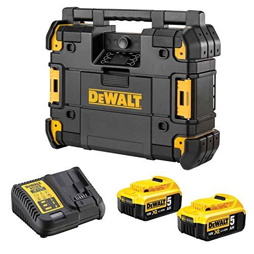 DeWALT TSTAK Akku- u. Netzradio DWST1-81078P2-QW - Baustellenradio - Bluetooth -...
