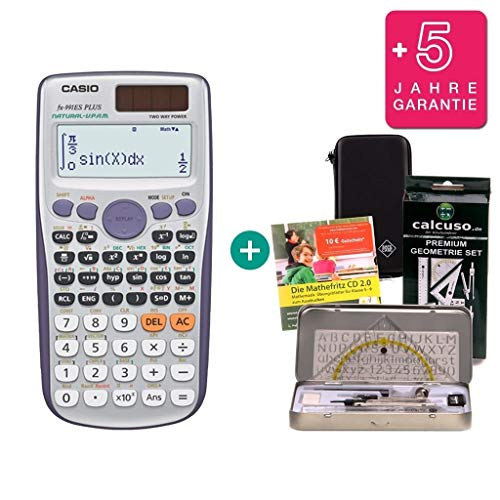 Streberpaket: Casio FX-991ES Plus + Schutztasche + Lern-CD (auf Deutsch) +...