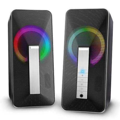 ELEGIANT PC Lautsprecher, Computer Lautsprecher 10w Portable Bluetooth 5.0...