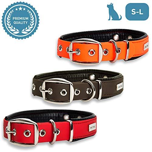 PetTec Hundehalsband aus Trioflex mit Polsterung, Wetterfest, Wasserabweisend,...