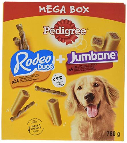 PEDIGREE Rodeo & Riesenknochen Hundesnacks für große Hunde Mixbox, 780 g