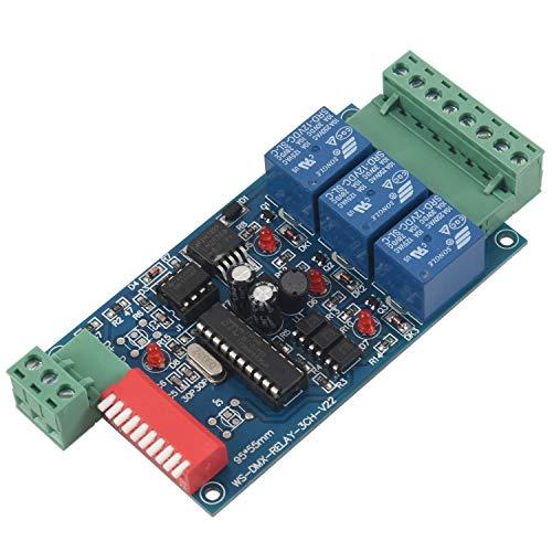 Tuneway 3 Kanal 5A DMX512 Kontrollierter Relais Schalter Kit DIY Konverter DMX...