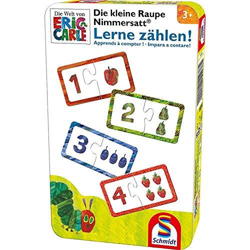 Schmidt Spiele 51238 Kleine Raupe Nimmersatt, Lerne zählen, Reisespiel in der...