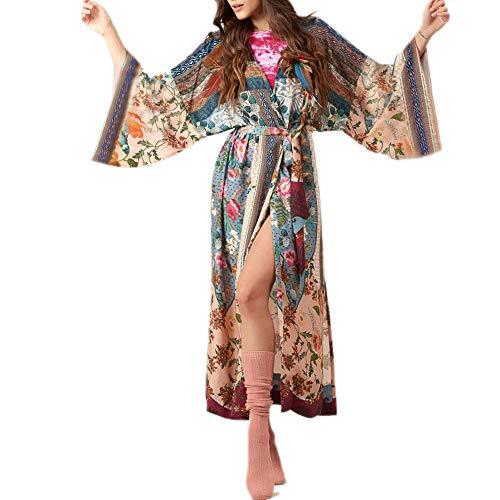 SIEBENEINSY Damen Boho Strand Badeanzug Bedecken Pareos Kimono Cardigan...
