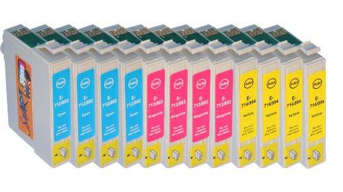 START 12 XL kompatible Tintenpatronen als Ersatz für Epson T0712, T0713, T0714...